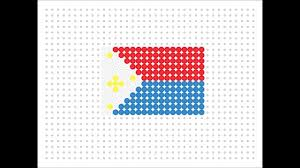 Philippine Flag Means Hama Bead Filipino Flag Flag Series 2 10 Youtube