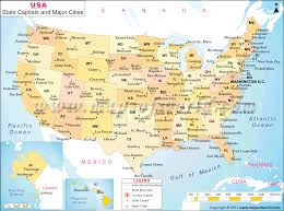 Blank United States Map by Usa Map With States And Cities My Blog