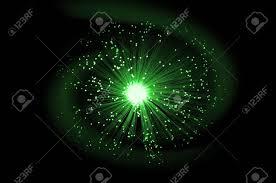 fiber optic light strands illuminated green fibre optic light strands against an abstract
