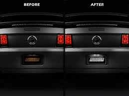 05 mustang interior mustang license plate glove box light led conversion kit 05 09