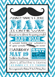 mustache little man baby shower invitation for a baby boy