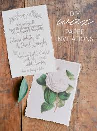 paper invitations diy wax paper wedding invitations once wed