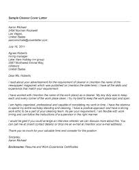 12 best images of cleaning sample cover letters services