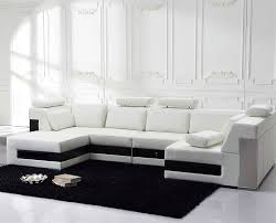 modern black and white leather sectional sofa white leather sectional sofa tos fy796