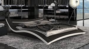 design wasserbett designerbett bett seducce 140 x 200 cm schwarz weiß modernes