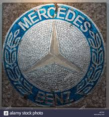 car mercedes logo painting with the logo of the mercedes benz by german artist