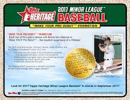 2017 topps heritage minor league baseball cards celebrates top