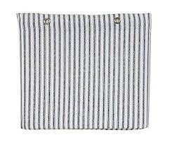 Ticking Stripe Curtains Sturdy Cotton Duck Shower Curtain Tub Size Blue