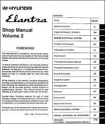 2006 hyundai elantra repair manual 1996 hyundai elantra repair shop manual original 2 vol set