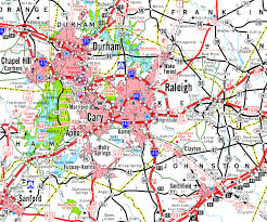 North Carolina Map North Raleigh Or Cary Nc What U0027s The Difference
