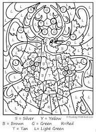 free christmas numbers coloring pages difficult color by number