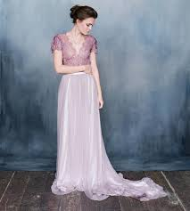 ombré wedding dress discount emily riggs purple wedding dresses with sleeves v neck a