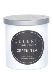 celerie by celerie kemble green tea black round label candle