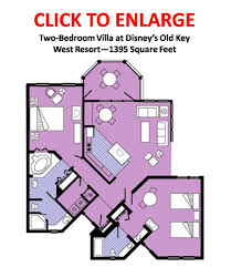 Key West Floor Plans by Bed 2 Bedroom Villa Plans