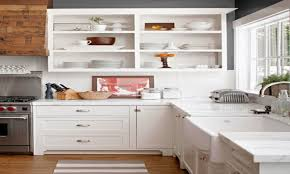 beautiful open cabinet kitchen home design