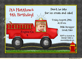 little firefighter birthday invitations cute fire engine party