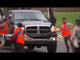 did dodge stop trucks may day protesters try to stop truck fail miserably