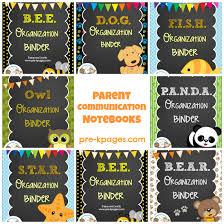 parent communication notebooks