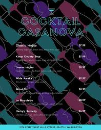 cocktail menu templates canva