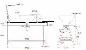 taille plan de travail cuisine a quelle hauteur les meubles hauts ou quelle hauteur la hotte