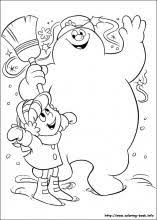 frosty snowman coloring pages coloring book