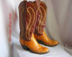 womens boots size 9 5 narrow vintage justin roper boots leather size 9 n eur 40 uk
