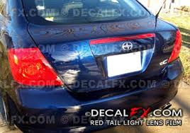 Tail Light Out Decalfx Com Red Tail Light Film Tint Overlays Vinyl Decals Redout