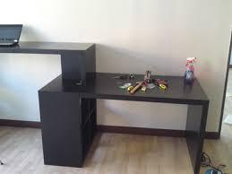 Desk Shelf Combo by Sitting Standing Desk Combo Ikea Hackers Ikea Hackers