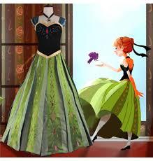 Princess Anna Halloween Costume Disney Frozen Fever Anna Dress Cosplay Halloween Costume Deluxe