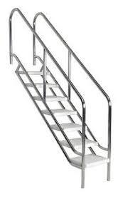 stufen treppe schwimmbadtreppe v4a mit 6 stufen treppe einbautreppe pooltreppe