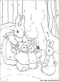 peter rabbit coloring picture crafty kids peter
