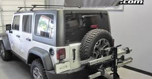 thule jeep wrangler jeep wrangler w thule 916xtr t2 2 bike rack 8 anti wobble