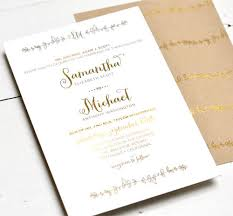 gold wedding invitations sparrow gold foil sted wedding invitations paper crave