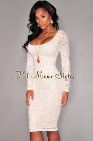 white lace dress white lace sleeves back vent midi dress