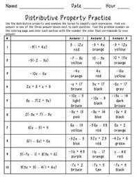 distributive property matching game math pinterest