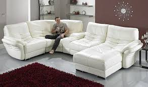 White Leather Living Room Furniture Living Room With White Leather Sofa Coma Frique Studio 9be46bd1776b