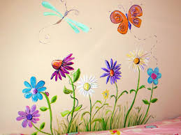 flowers and bugs mural google search beb rooms pinterest flowers and bugs mural google search