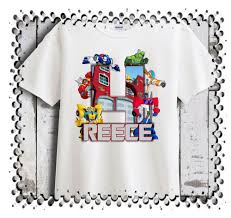 Rescue Bots Favors by Transformer Rescue Bots Personalized Birthday T Shirt