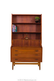 bureau retro bornholm mobler teak bureau desk book shelf retro mid century
