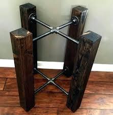 pedestal table base ideas table base ideas inspiring reclaimed wood pedestal d room table