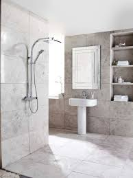 bathroom travertine bathroom with glass side shower stall and