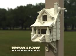 3d printed the american craftsman bungalow birdhouse by mr