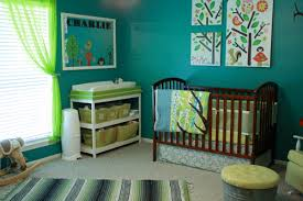 Green Nursery Decor Baby Nursery Decor Rugs Teal Painting Enchanted Forest Baby