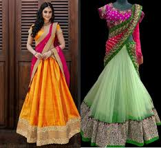 silk dresses indian ethnic party wears net and silk dresses collection trends