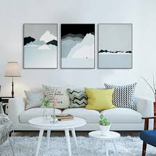 2017 triptych modern abstract landscape canvas a4 art print poster