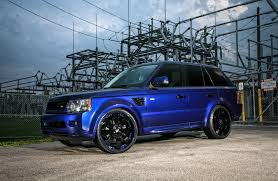 black land rover with black rims customized range rover sport exclusive motoring miami fl