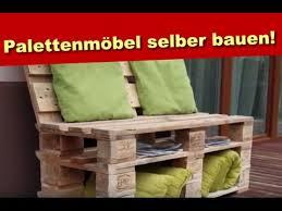 palettenmöbel aus holz sitzbank aus paletten selber bauen