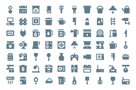 275 home appliances material icons creative stall