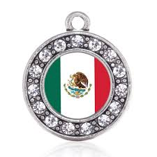 Mexixan Flag Mexican Flag Circle Charm U2013 Inspiredcharms