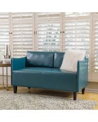 teal blue leather sofa spring savings are here 15 off cayo faux leather loveseat sofa